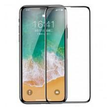 CRISTAL TEMPLADO 0.3MM PARA IPHONE X NEGRO