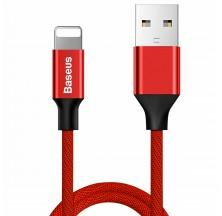 CABLE LIGHTNING PARA IPHONE 1.2M ROJO BASEUS