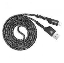 CABLE TRENZADO LIGHTNING PARA IPHONE 1M 2A EN COLOR NEGRO