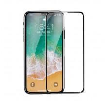 CRISTAL TEMPLADO 0.23MM COMPLETO PARA IPHONE X / XS EN COLOR NEGRO