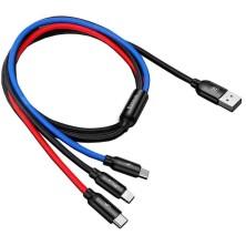 CABLE CARGA 3 EN 1 PARA LIGHTNING / MICRO USB / USB-C 30CM 3.5A BASEUS