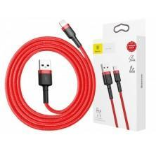 CABLE LIGHTNING 1M 2.4A EN COLOR ROJO BASEUS