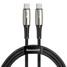 CABO USB TIPO C A LIGHTNING 18W PD 1.3M PRETO BASEUS