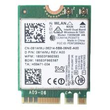 CARTÃO INTEL DUAL BAND 7265NGW 802.11AN WIFI + BLUETOOTH 4.0 PARA PORTATIL HP WLAN 756748-001