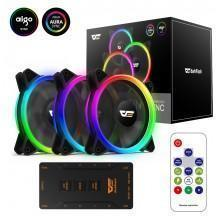 VENTILADOR GAMING DARKFLASH DR12 PRO PACK 3 120MM LED RGB PARA CAJA DE ORDENADOR