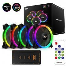 VENTILADOR GAMING DARKFLASH DR12 PRO PACK 5 120MM LED RGB PARA CAJA DE ORDENADOR