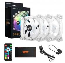 VENTILADOR GAMING DARKFLASH CF8 PRO PACK 3 120MM LED RGB PARA CAJA DE ORDENADOR