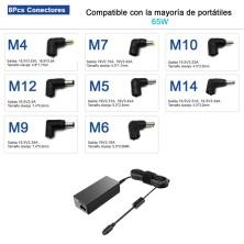 CARGADOR UNIVERSAL SLIM PARA PORTÁTILES 19-20V 3.25A 70W + USB